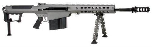 "Barrett M107A1 .50 BMG 20"" Chrome Lined Fluted Barrel, Suppressor-Ready Brake Gray Cerakoted Receiver 10rd Mag"