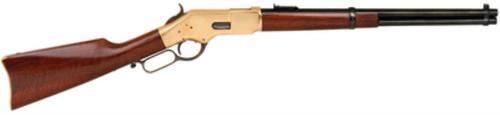 "Cimarron 1866 Yellowboy Saddle Ring Carbine .38 Special 19"" Barrel Blue Finish Brass Frame European Walnut Stock"