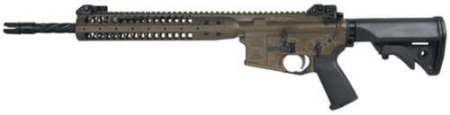 """LWRC Improved Carbine SPR 5.56 16"""" Helical Fluted Barrel Patriot Brown 30rd Mag"""