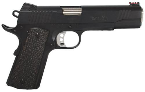 REMINGTON MODEL 1911 R1 ENHANCED 45 ACP FIBER OPTIC SIGHT GRAY LAMINATE GRIPS