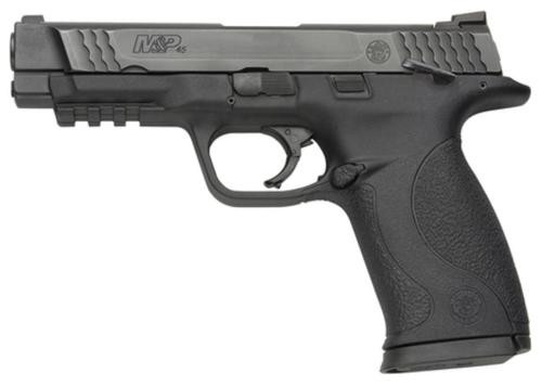 """Smith & Wesson, M&P, Full Size, 45ACP, Striker Fired, 4.5"""" Barrel, Polymer Frame, Black, Low Profile Carry Sights, 10Rd, 2 Magazines, Ambidextrous Safety"""