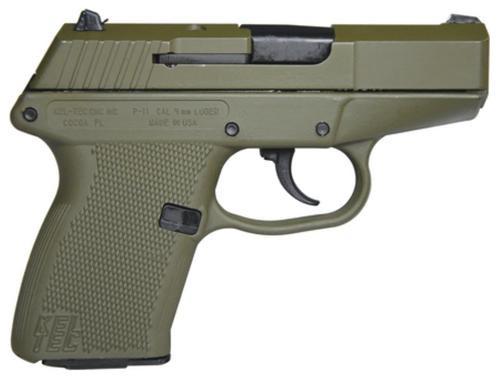 KelTec P-11 9mm 3.1 Inch Barrel Cerakote OD Green Slide Cerakote OD Green Grip/Frame 10 Round