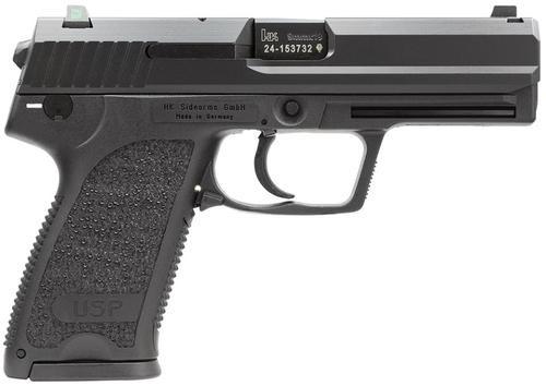 HK USP9 (V7) LEM DAO, three 15rd magazines and night sights