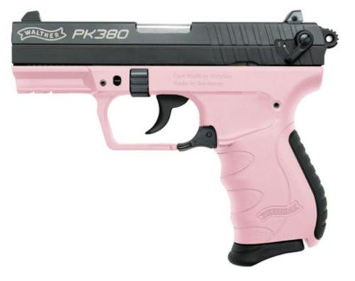 "Walther PK380 Pink Two Tone Finish, 3.6"" Barrel, 8 Rnd Mag"