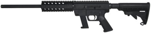 """Just Right Carbine 9mm 17"""" Threaded Barrel Collapsible M4 Stock Black Finish Quad Rail Forend 17rd Smith & Wesson M&P Magazine"""