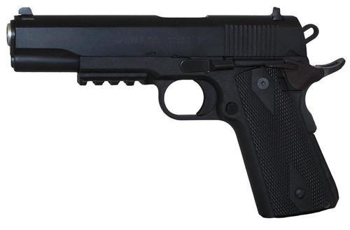 "EAA Witness Elite 1911 Polymer Single Stack 45 ACP 5.0"" Barrel, Wood Grip Black, 8rd"