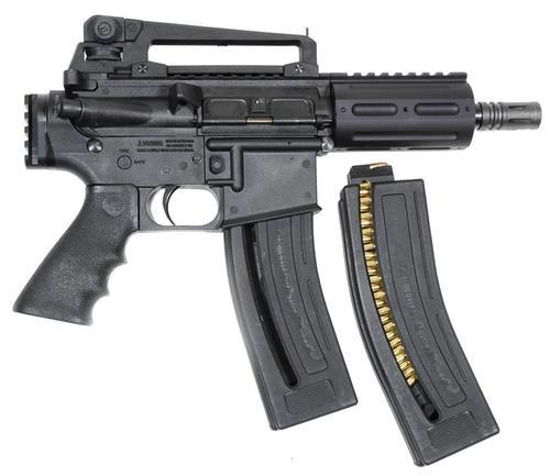 "Chiappa MKS MFour-22 Pistol SA 22LR 6"",  Black Synthetic Pistol Grip Black,  28 rd"