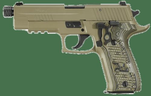 "SIG P226 Scorpion 9mm, Flat Dark Earth, 4.9"", Threaded Barrel, 15rd Mag"