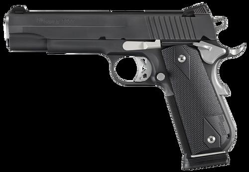 SIG 1911 357 SIG 5IN Nightmare BLK SAO Siglite Black G10 Grip (2) 8RD Steel MAG Fastback