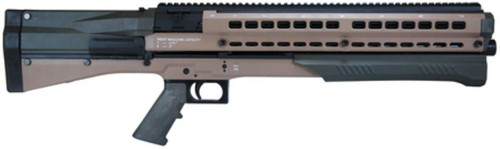 "UTAS UTS-15 Dual Tube 12 Ga Pump Shotgun 3"" Chamber 18.5"" Barrel Tan/OD Green Finish Pistol Grip and Stock 14rd"