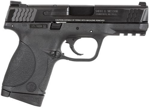 "Smith & Wesson M&P Compact *MA Comp* 45 ACP 4"" Barrel, No Mag Safety Poly Grip/Frame Black, 8rd"