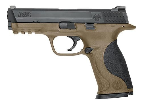 """Smith & Wesson M&P 9 Double 9mm 4.3"""" Barrel, Black Polymer Grips Flat Dark Earth, 17rd"""