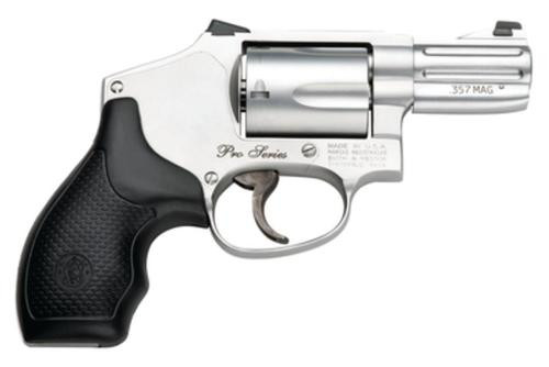 "Smith & Wesson 640 Pro .357 Ma/38 Spec 2"" Barrel Satin SS Finish Night Sights Full Moon Clips 5 Round"