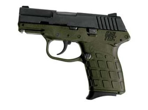 """KelTec PF-9 9mm, 3"""" Barrel, Green Grip, 7 Rd Mag"""