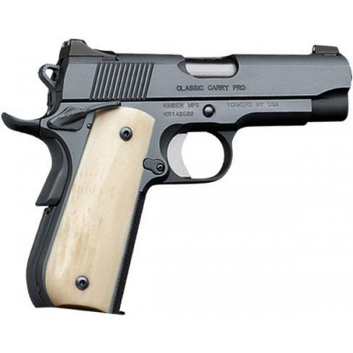 """Kimber Classic Carry Pro 45 ACP, 4"""", 8rd, Solid Ivory G10 Grips"""