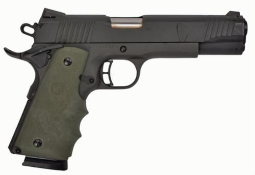 "Citadel M-1911 Full Size 45 ACP 5"" Barrel Matte Black Hogue Synthetic Grip Olive Drab Green 8rd"