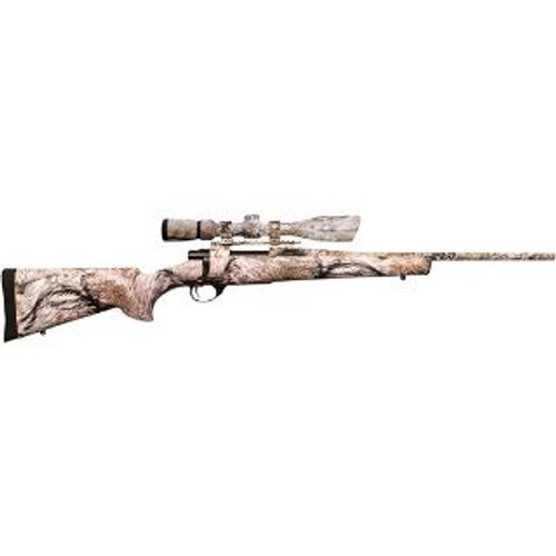 """Howa Ranchland Compact Rifle/Scope Package .22-250 Remington 20"""" Lightweight Barrel Synthetic Stock Full Coverage YOTE Camouflage Finish 5rd With 2.5-10x42mm Nighteater Riflescope"""