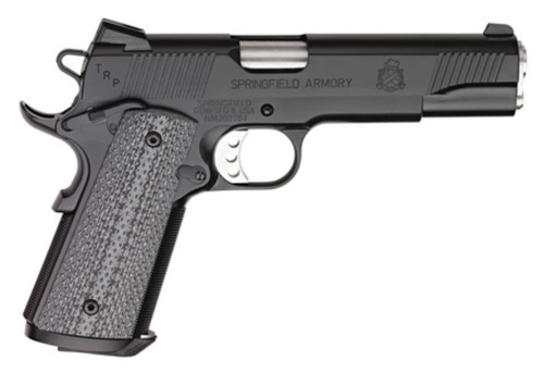 """Springfield 1911-A1 Tactical Response Loaded .45 5"""" Black Armory Kote, Trijicon Night Sights"""