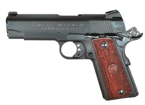"American Classic 1911 Compact Commander 45 ACP 4.3"" Barrel, Hardwood Grip Blued, 7rd"