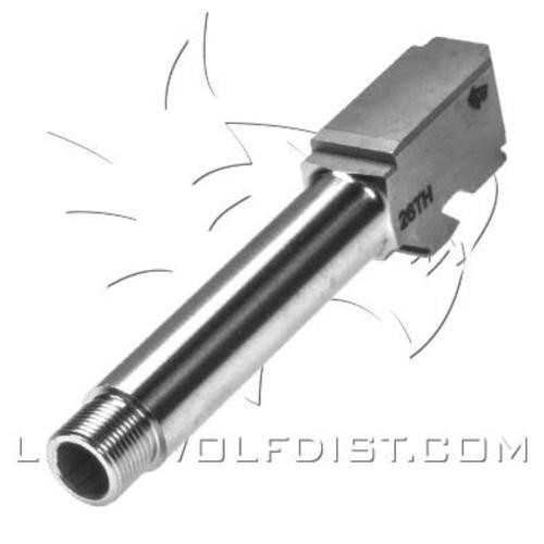 Lone Wolf Distributors Threaded Barrel, Glock G26, 1/2x28