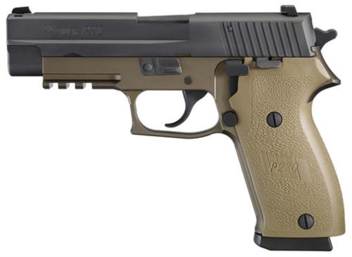 Sig P220 45 ACP 4.4In Combat 2-Tone Flat Dark Earth Da/Sa Siglite Flat Dark Earth Polymer Grip (1) 10Rd (1) 8RD Steel MAG CA Compliant