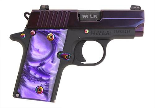 "Sig P238 Purple Night Sights 2.7"" Barrel, .380 ACP, 6rd"
