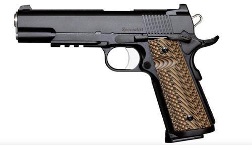 "Dan Wesson Specialist 9mm, 5"" Barrel, Black, Night Sights,, rd,  10 rd"