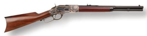 "Cimarron Firearms Model 1873 Texas Brush Popper .45 Long Colt 18.5"" Barrel Blue Finish Walnut Straight Stock 10rd"