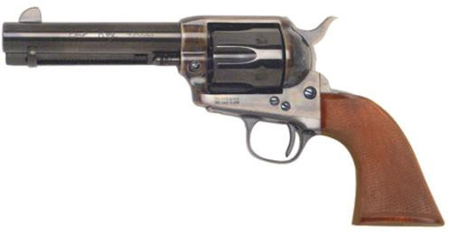 "Cimarron Model P Evil Roy 357 Magnum, 4.75"" Polished Blue Barrel, One Piece Walnut Grip"