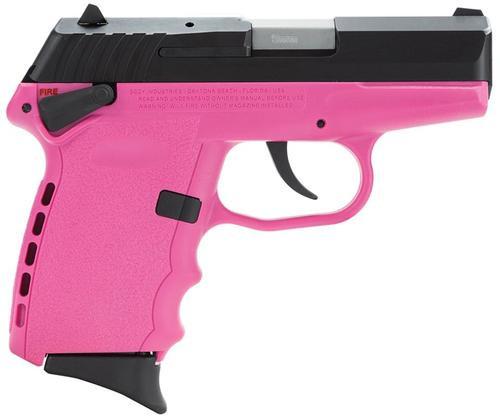 """SCCY CPX-1 Gen 2 DAO 9mm 3.1"""" Barrel, Pink Poly Grip/Frame Black Slide, 10rd"""
