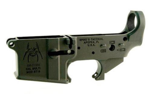 Spikes Lower Receiver Stripped ST-15 Spider, Bullet Marking