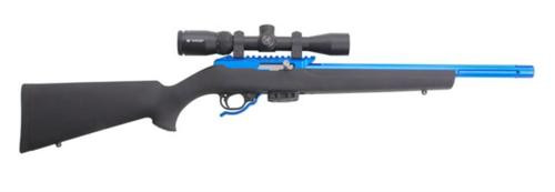 Tactical Solutions X-Ring Rifle, 22LR, Vortex Crossfire II Scope, Hogue Stock, Blue Anodized