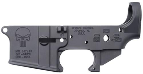 Spikes Tactical Stripped Lower Receiver, Punisher, Multi-Cal