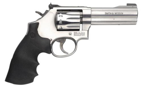 "Smith & Wesson 617 K-22 Masterpiece 22LR 4"" Barrel Stainless Steel Houge Rubber Grip10rd"