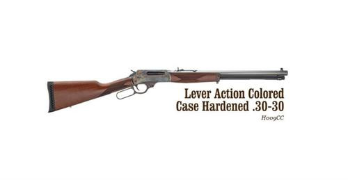 "Henry Repeating Arms, Lever Action Rifle, 30-30, 20"" Octagon Barrel, Color Case Hardened Receiver, Walnut Stock, 5Rd, Adjustable Sights"