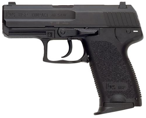 HK USP40 Compact (V1) DA/SA, safety/decocking lever on left, two 10rd magazines