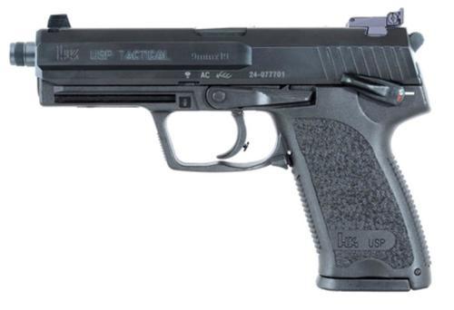 HK USP9 Tactical (V1) DA/SA, safety/decocking lever on left, two 10rd magazines