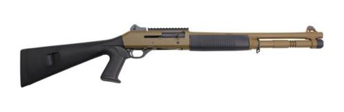 *D*Benelli M4 Tactical Shotgun 12 Ga 18 Federal Standard Field Drab Cerakote Ghost Ring Sights
