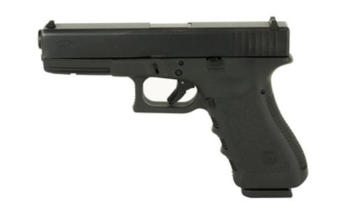"Glock, 22, Safe Action, Full Size Pistol, 40 S&W, 4.48"" Barrel, Polymer Frame, Matte Finish, Fixed Sights, 15Rd, 2 Magazines, Glock OEM Rail, Rebuilt"