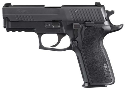 Sig P229 9MM 3.9In Enhanced Elite Black Da/Sa Siglite E2 Grip (2) 15Rd Steel MAG SRT