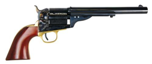 "Cimarron Firearms 1872 Open Top Navy .38 Colt and Special 7.5"" Barrel Standard Blue Finish One Piece Walnut Grip"