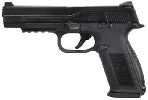 """FN FNS-9L Long Slide 9mm 5"""" Barrel Blackened Stainless Steel Slide, Black Frame 17rd Mag"""