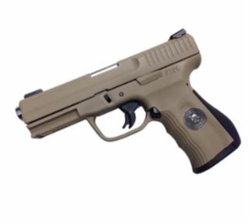 """FMK Gen 2 Marine Corp Limited Edition Set 9mm 4"""", Desert Sand Cerakote, Tru GLo Sights, 14 Round Mag"""