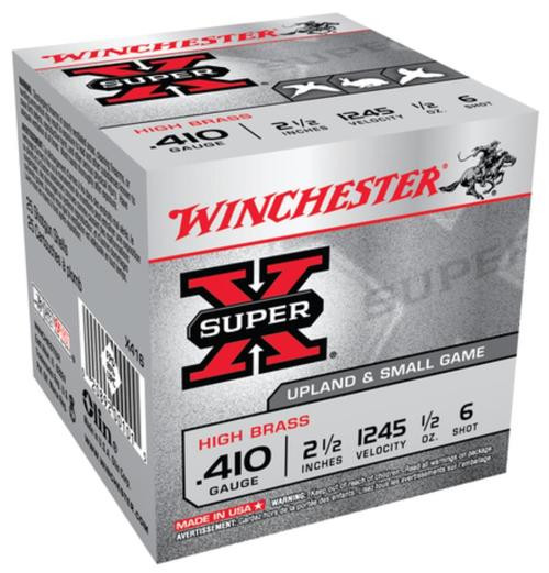 "Winchester Super-X High Brass 410 ga 2.5"" 1/2 oz 6 Shot 25Box/10Case"