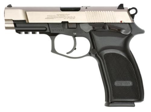 "Bersa Thunder Pro DA/SA HC 9mm 4.25"" Barrel, Poly Grip Black /Nickel, 17rd"