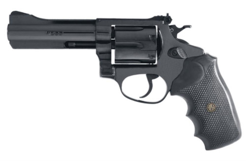 "Rossi Revolver 357 RemMag 4"" 6rd Black Rubber Grip Blued"