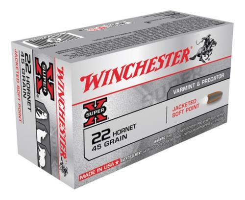 Winchester Super X, 22 Hornet, 45 Gr, Soft Point, 50Box