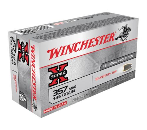 Winchester Super X 357 Rem Mag Silvertip HP 145gr, 50rd Box