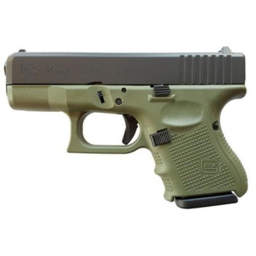 Glock 26 Gen4, 9mm, 10rd, Battlefield Green Frame