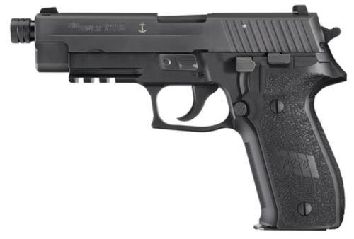 Sig P226 9MM 4.9In Mk25 Black Da/Sa Siglite Polymer Grip (3) 15Rd Steel MAG USN Anchor UID Threaded (13.5X1mm LH)